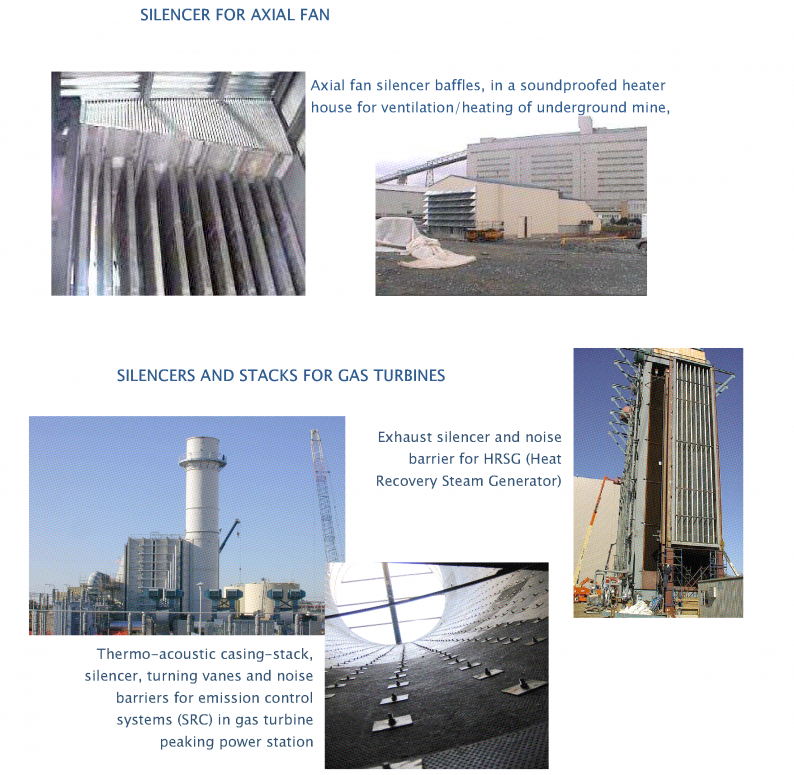 C brochure page 2 showing axial fan and gas turbine applications